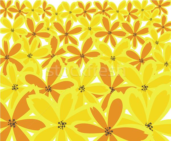 Sarı soyut turuncu sarı çiçekler bilgisayar Stok fotoğraf © Oksvik