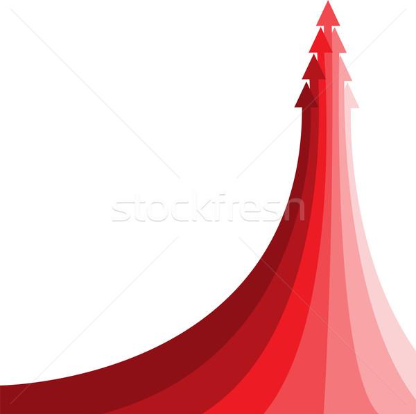 Rood pijl groot verscheidene klein achtergrond Stockfoto © Oksvik