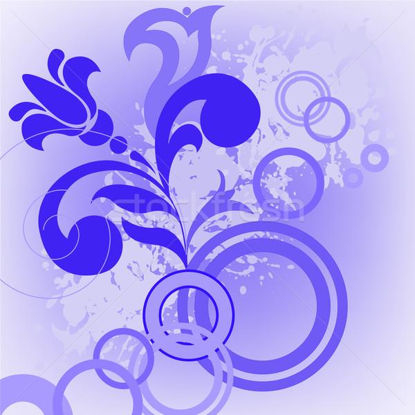 синий цветок Круги аннотация природы лет пространстве Сток-фото © Oksvik