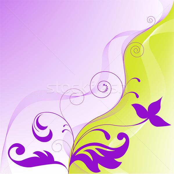 желтый Purple аннотация цветочный Элементы трава Сток-фото © Oksvik