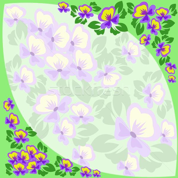 frame of violets Stock photo © Oksvik