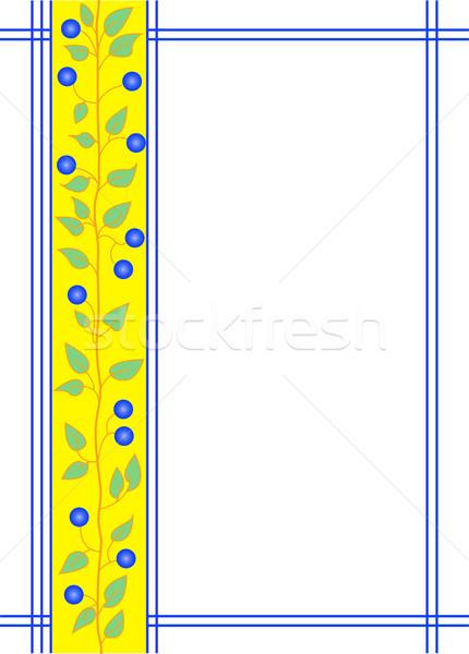frame with floral ornament Stock photo © Oksvik