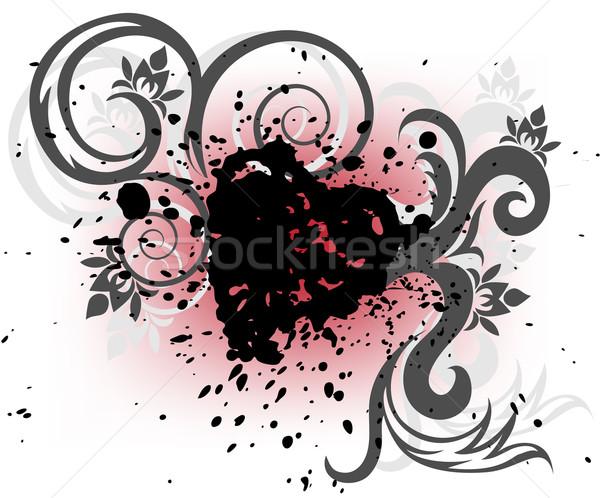 черный сердце спрей стилизованный белый Сток-фото © Oksvik
