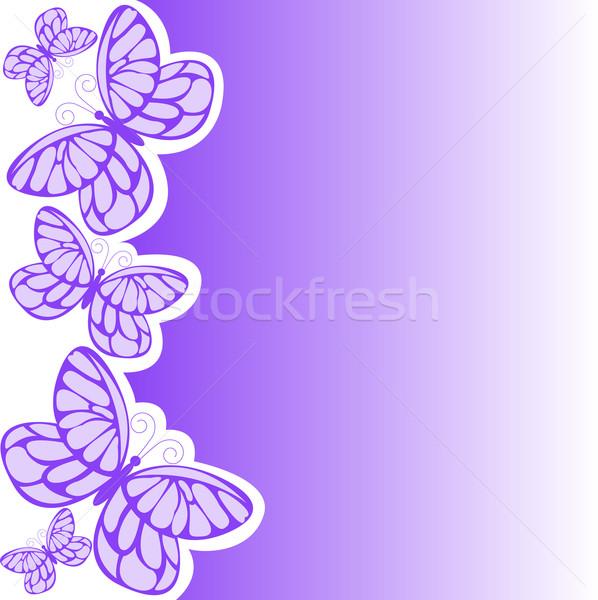 Paars vlinder verscheidene vlinders ontwerp schoonheid Stockfoto © Oksvik
