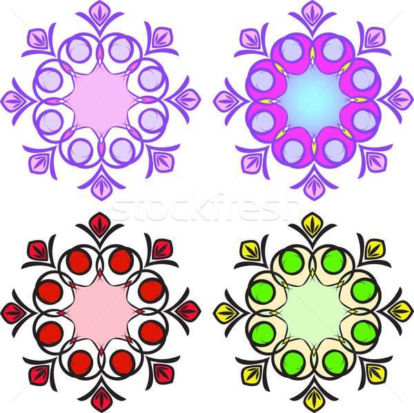 Patronen vier decoratief element verschillend Stockfoto © Oksvik