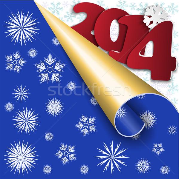 Blue New Year's background Stock photo © Oksvik
