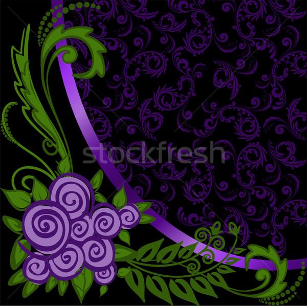 Purple черный украшения роз любви закрывается Сток-фото © Oksvik