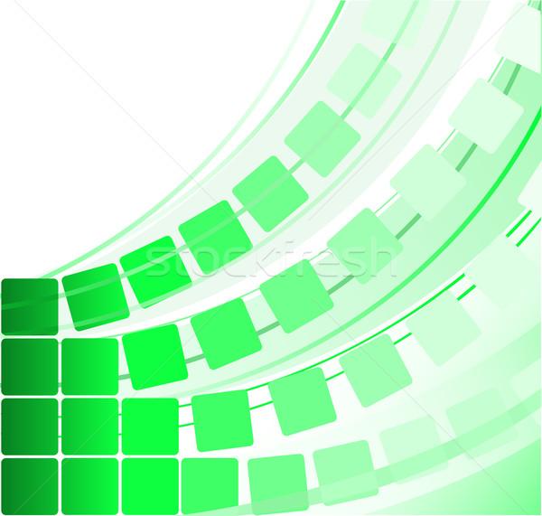 green transparent squares Stock photo © Oksvik