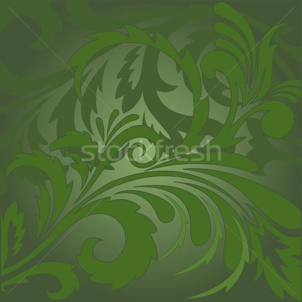 Soyut vektör yeşil süsler doku Stok fotoğraf © Oksvik