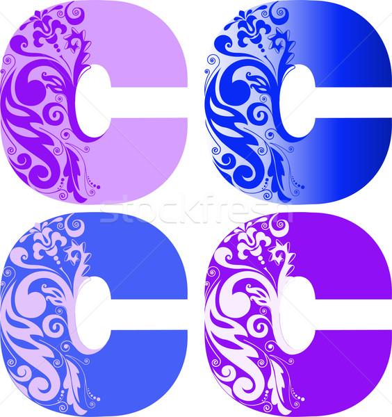 Ingesteld brieven vier verschillend kleur ander Stockfoto © Oksvik