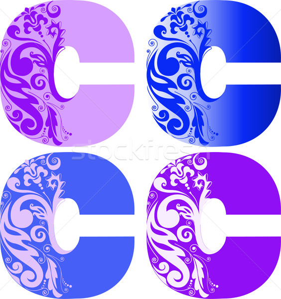 set of letters C Stock photo © Oksvik