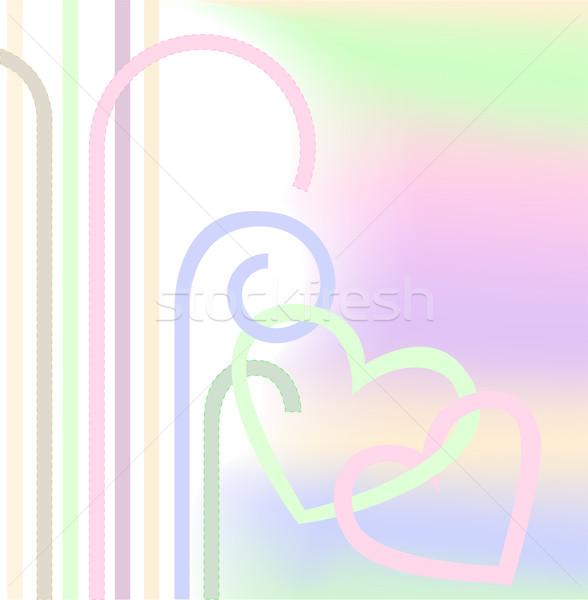 сердцах пастельный цветами аннотация любви Сток-фото © Oksvik