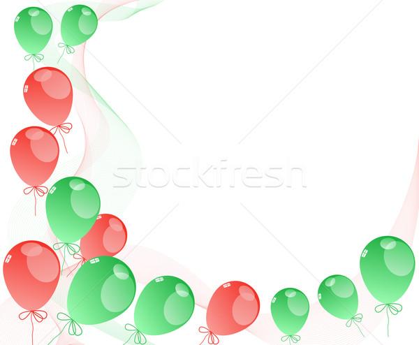 шаров красный зеленый белый прозрачный лента Сток-фото © Oksvik