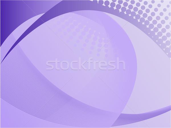 Paars abstract golf communie halftoon technologie Stockfoto © Oksvik