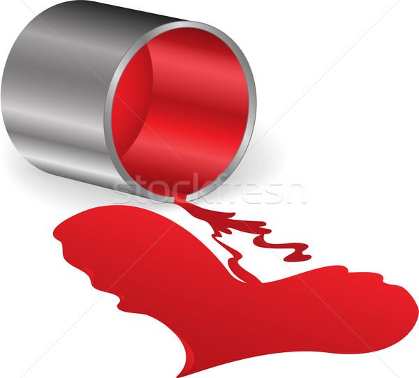 сердце красный краской металл олово белый Сток-фото © Oksvik
