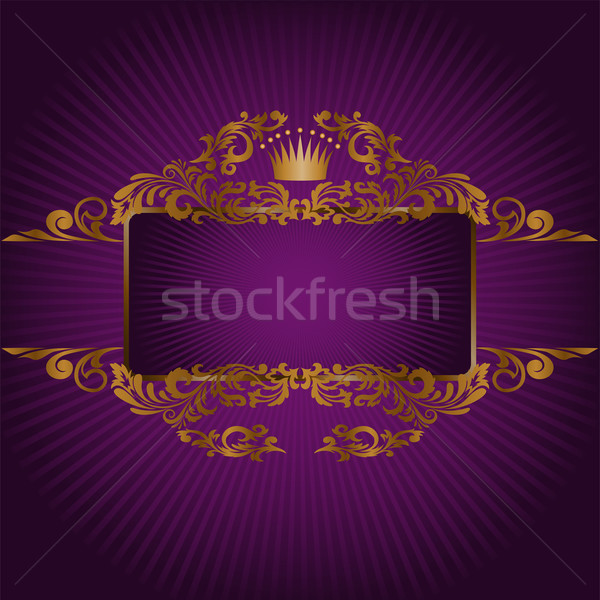 Stock photo: banner with the royal symbols