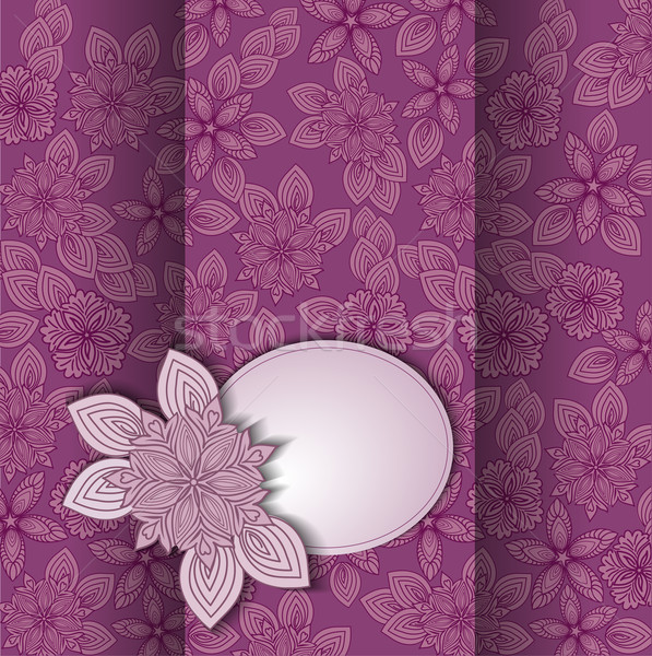 Kaart mooie bloem ontwerp tekst Stockfoto © Oksvik