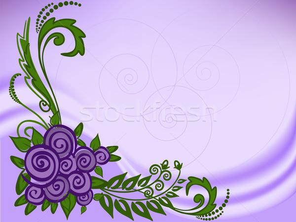 сирень роз аннотация цветок свадьба дизайна Сток-фото © Oksvik
