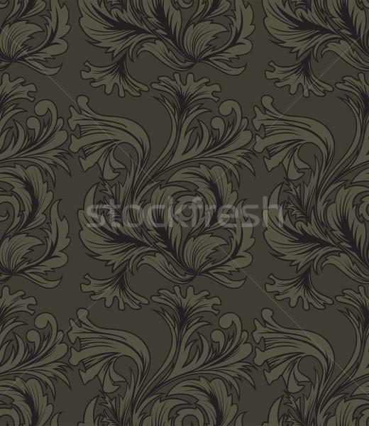 бесшовный красивой антикварная украшения текстуры дизайна Сток-фото © Oksvik