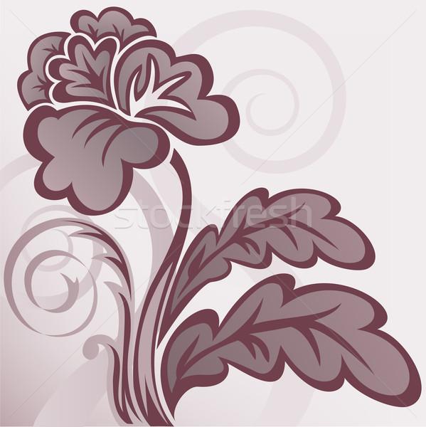 коричневый цветок аннотация красивой стилизованный фон Сток-фото © Oksvik