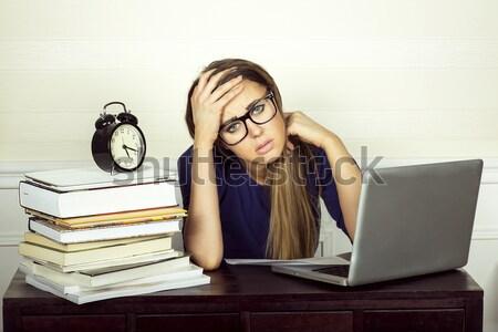 Young businesswoman working. Stock photo © oleanderstudio