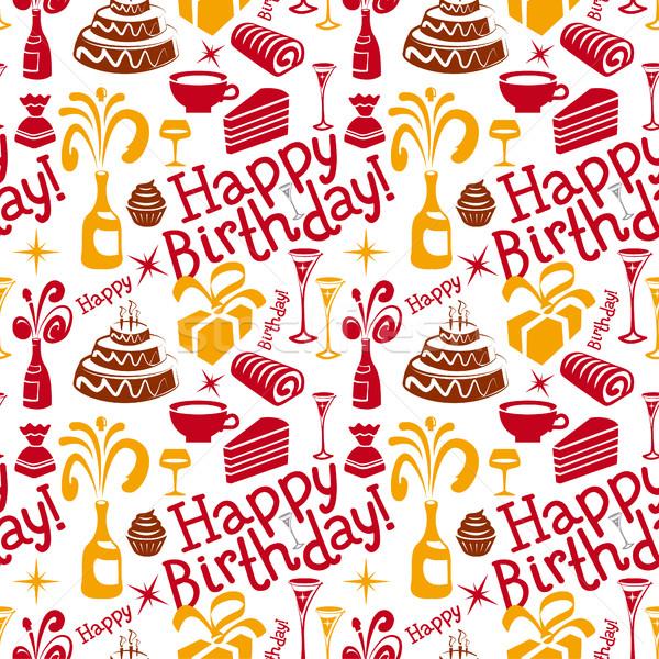 С Днем Рождения шаблон текстуры вечеринка рождения Сток-фото © olegtoka
