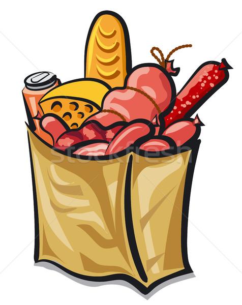 сумку иллюстрация продуктовых продовольствие пива Сток-фото © olegtoka