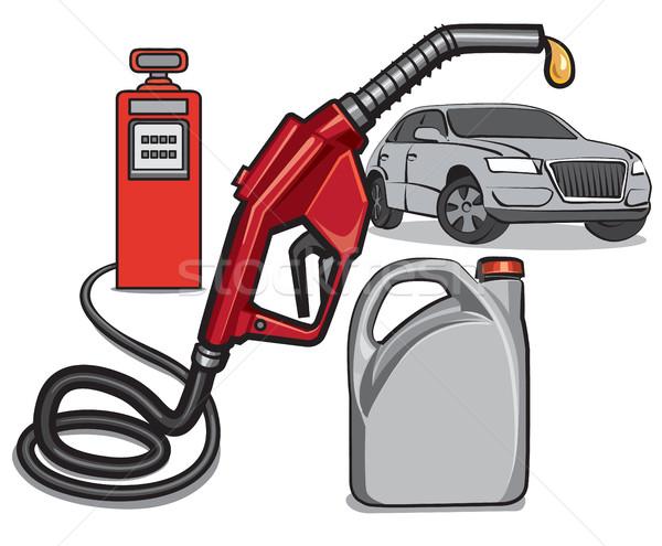 топлива службе станция иллюстрация газ дизайна Сток-фото © olegtoka