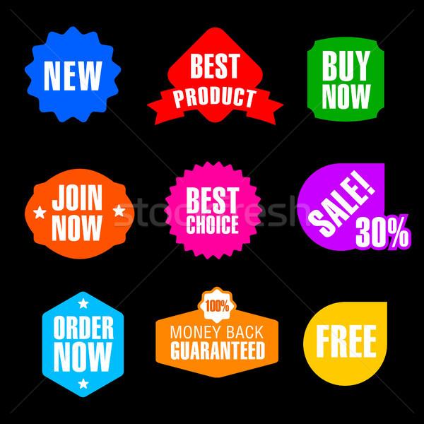 реклама поощрения Баннеры набор различный жетоны Сток-фото © olegtoka