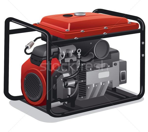 Onbeweeglijk macht generator illustratie industriële home Stockfoto © olegtoka