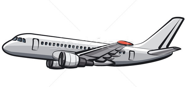 flying passenger airplane Stock photo © olegtoka