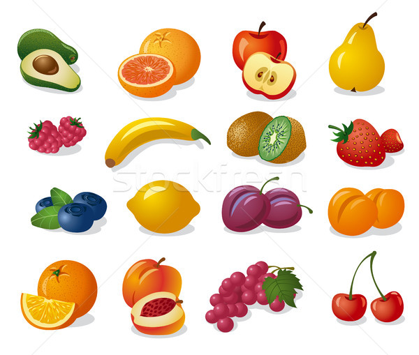 плодов Ягоды набор иллюстрация различный свежие Сток-фото © olegtoka