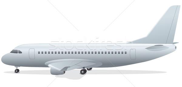 самолет Постоянный аэропорту иллюстрация плоскости лет Сток-фото © olegtoka