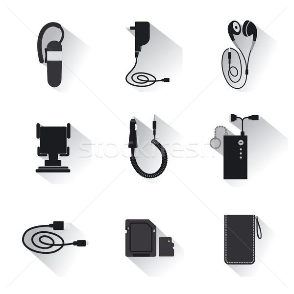 мобильных иллюстрация мобильного телефона кабеля Сток-фото © olegtoka