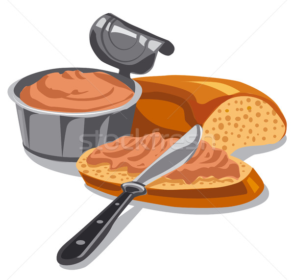meat pate on sliced bread Stock photo © olegtoka