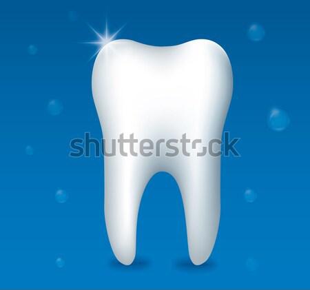 здорового зубов иллюстрация синий дизайна зубов Сток-фото © olegtoka