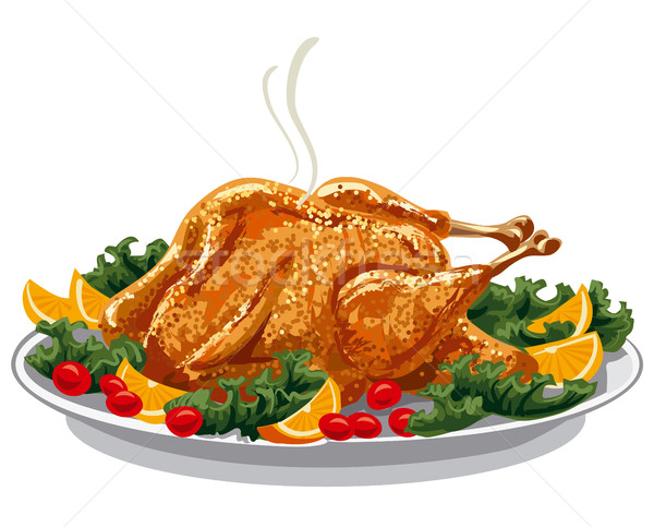 Турция пластина иллюстрация обеда красный Сток-фото © olegtoka