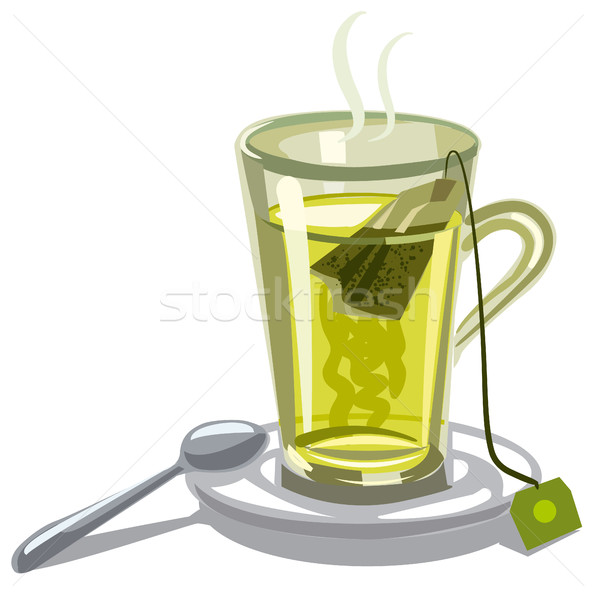 green tea in glass Stock photo © olegtoka
