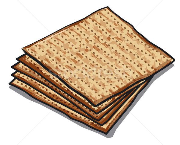 traditional jewish matzoh Stock photo © olegtoka