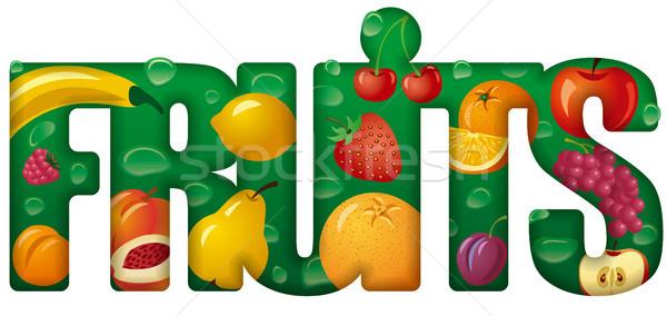 плодов баннер иллюстрация Ягоды Сток-фото © olegtoka