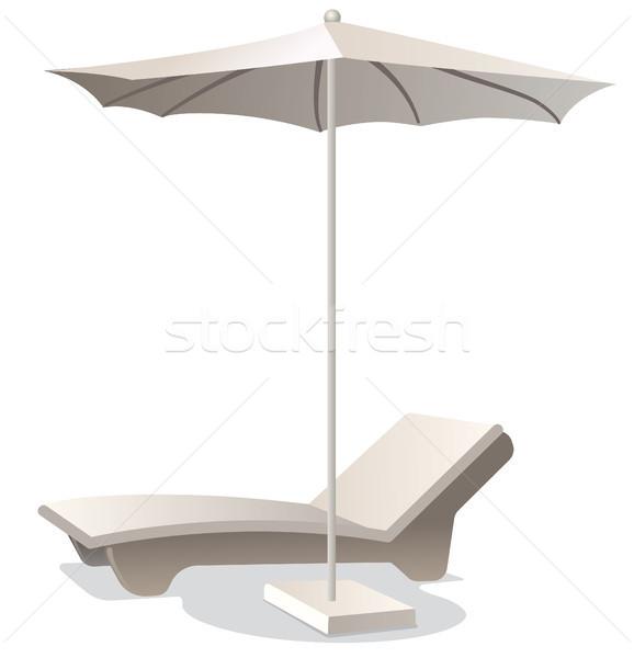 Lounge Председатель зонтик иллюстрация удобный лет Сток-фото © olegtoka