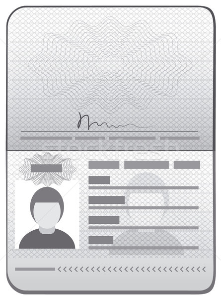 passport id template Stock photo © olegtoka