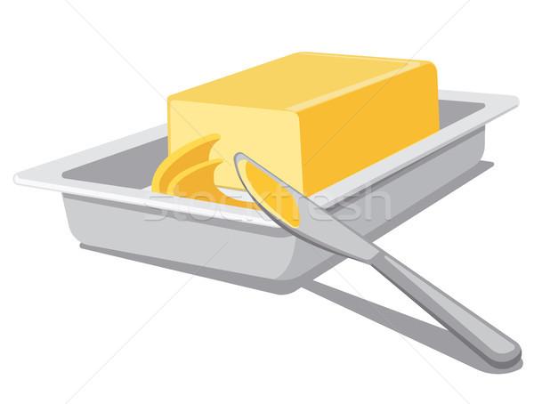 sliced spreading butter Stock photo © olegtoka
