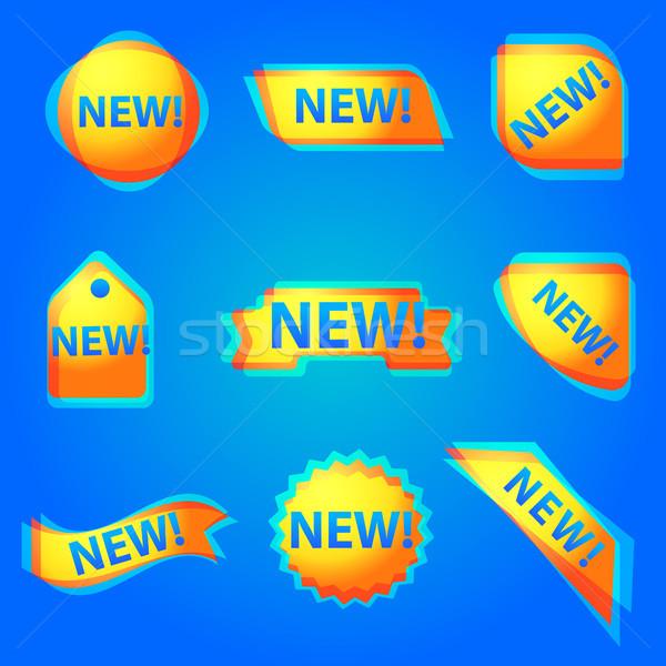 красочный новых реклама веб баннер иллюстрация Сток-фото © olegtoka