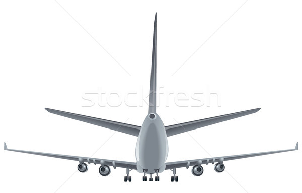 back view passenger airplane Stock photo © olegtoka