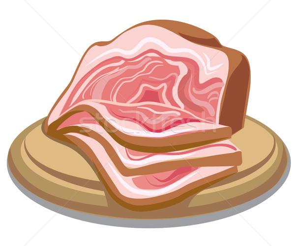 мяса иллюстрация бекон Сток-фото © olegtoka