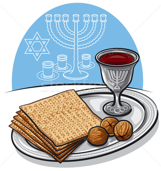traditional jewish matzoh in passover Stock photo © olegtoka