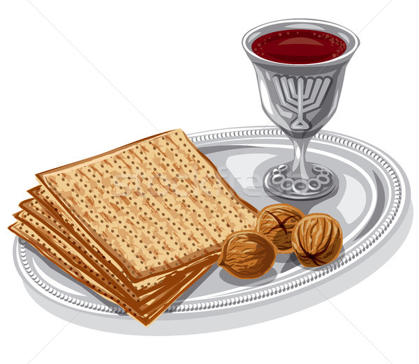 traditional jewish matzoh Stock photo © olegtoka