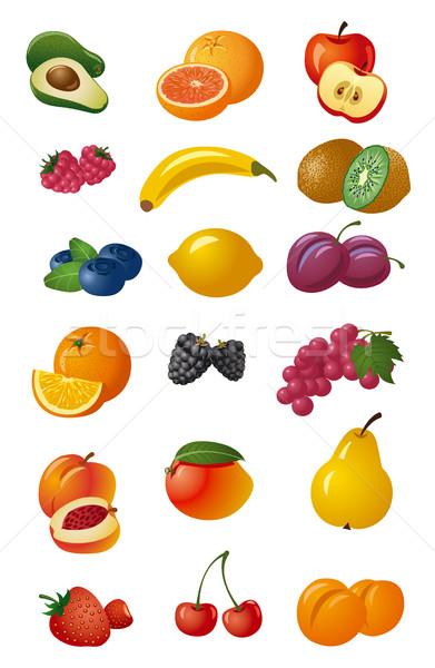 различный свежие плодов набор иллюстрация продовольствие Сток-фото © olegtoka