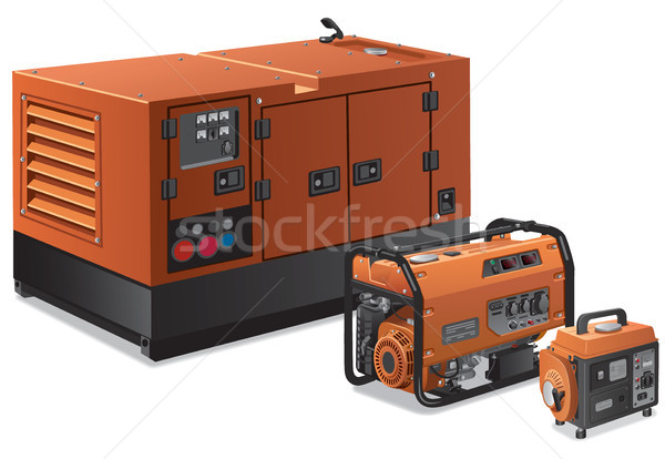 big and small power generators Stock photo © olegtoka